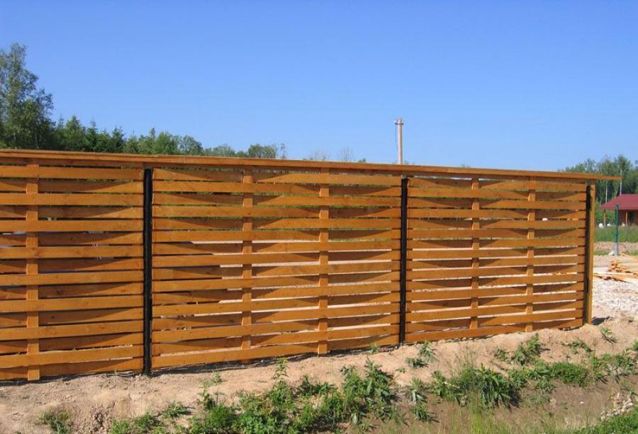 Как сделать плетёный забор из досок своими  550